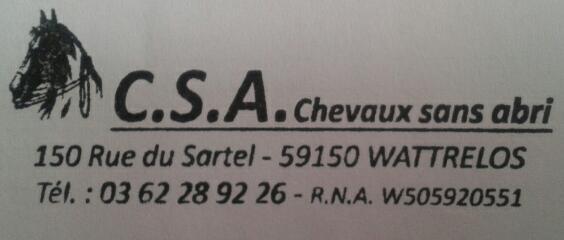 Association - C.S.A.Chevaux sans abri