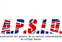 Association L'APSID (l'association parents de la section internationale Collège Pierre Daunou)