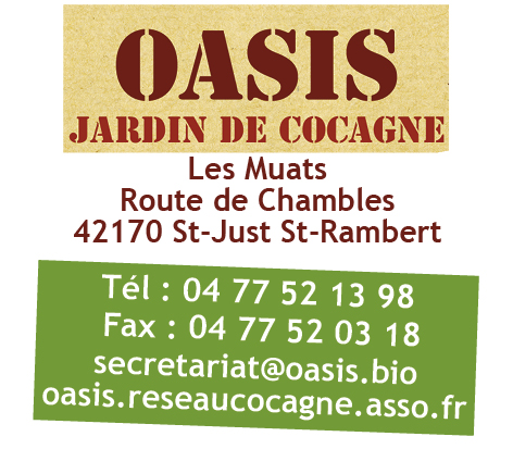 Association - OASIS jardin de Cocagne de St Just St Rambert