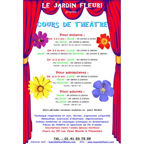 Association - Cours de théâtre Le jardin fleuri
