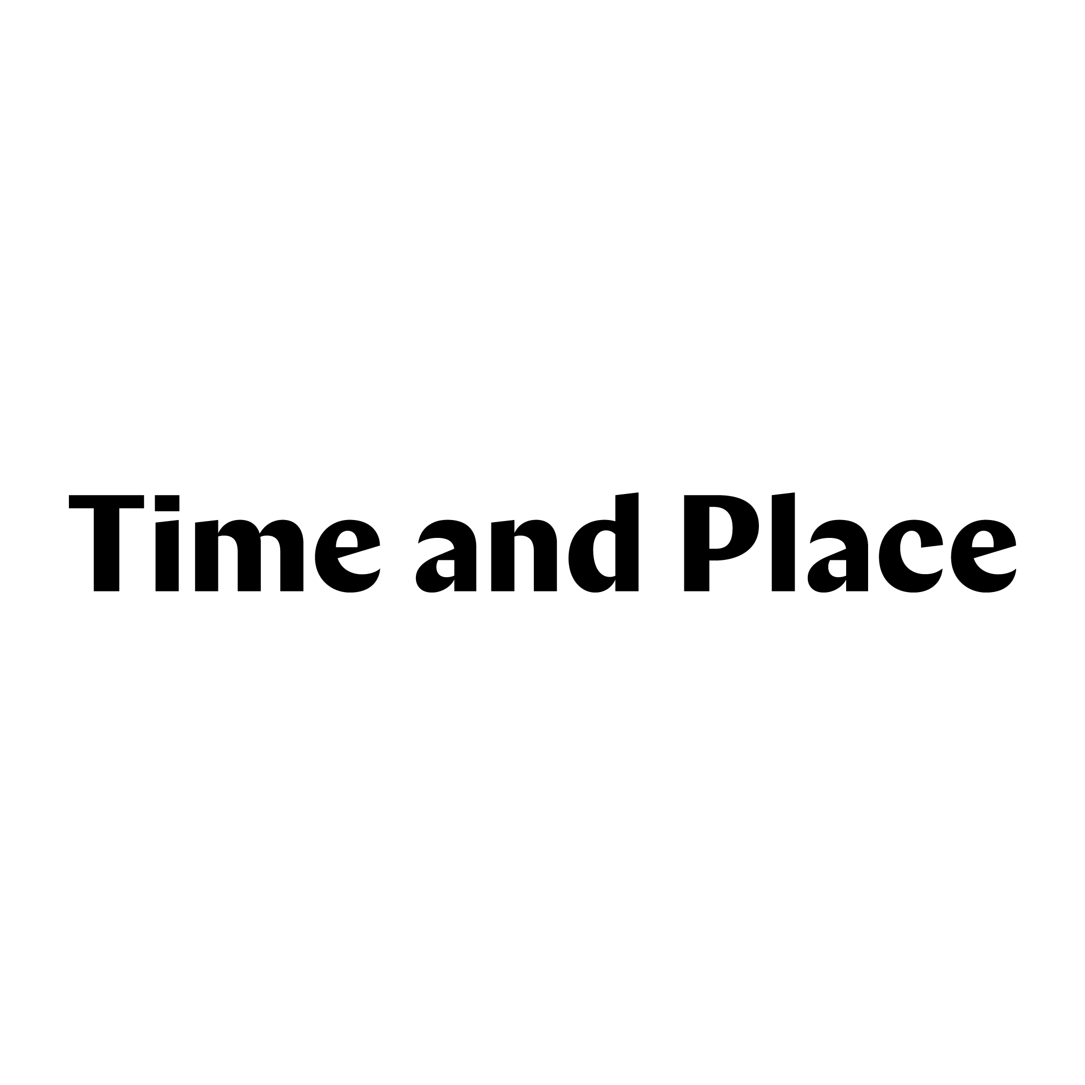 Association - Time and Place Éditions
