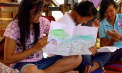 Séance d'Art-Therapie au centre de Vientiane - AFESIP