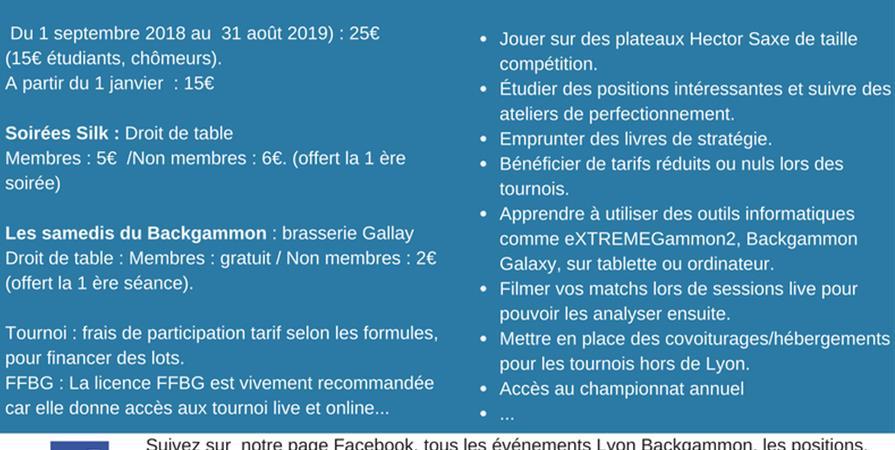 Adhésion Lyon Backgammon 2018/2019 - Lyon Backgammon