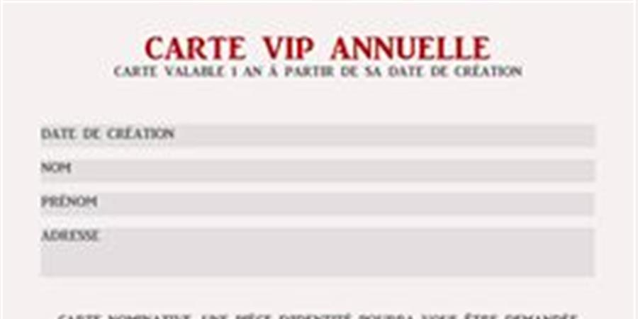 "Carte VIP nominative ""Rugby Tattoo Family Muséum "" - Rugby Tattoo Family Muséum"