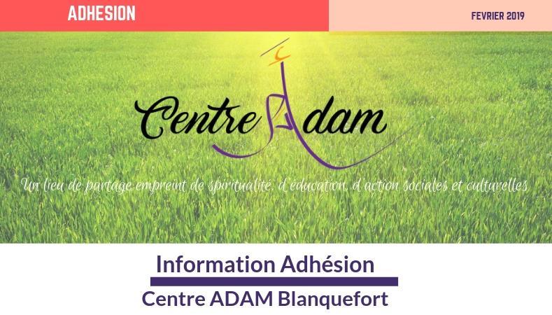 Adhésion - A.D.A.M.