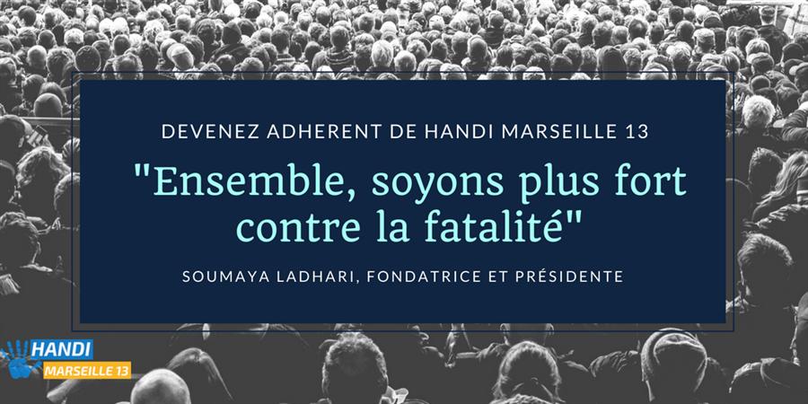 Formulaire d'adhésion annuelle Handi Marseille 13 - Handi Marseille 13