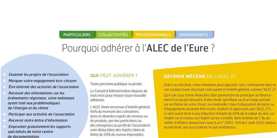 Adhérez à l'ALEC 27 - Agence Locale de l'Energie et du Climat de l'Eure - ALEC 27