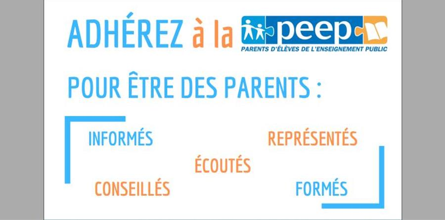 Adhésion PEEP Pasteur Lille - PEEP PASTEUR LILLE