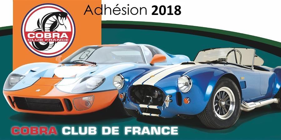 Adhérer au CCF pour 2018 - Cobra Club de France