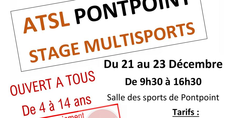 Stage Multisports de Noël - Association Tennis et Sports Loisirs de Pontpoint