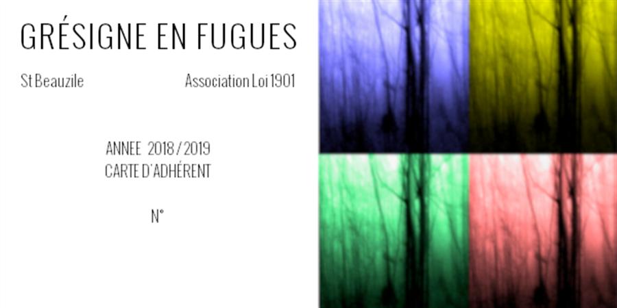 Adhésion à l'association Grésigne en fugues - Grésigne en fugues