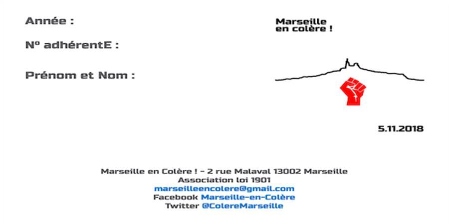 """Adhésion à l'association """"Marseille en colère !"""" - Marseille en colère !"""