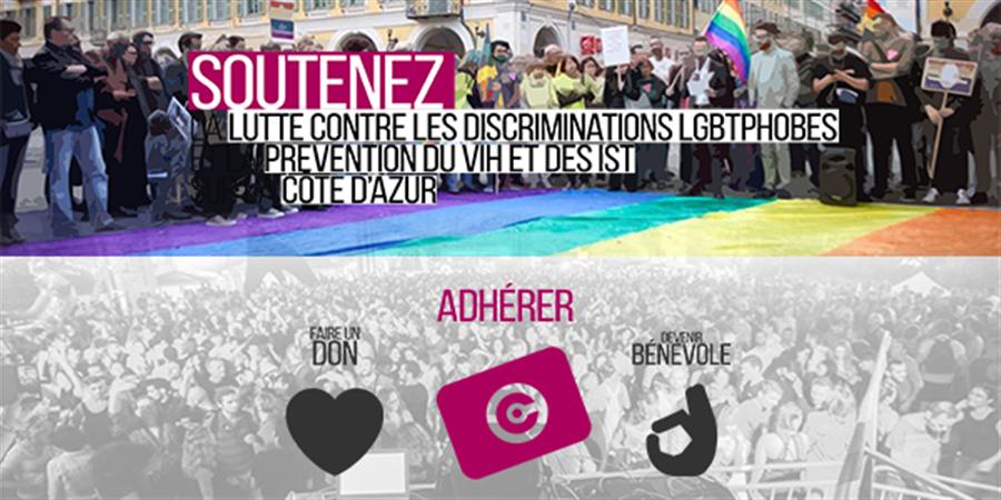 Adhésion au Centre LGBT Côte d'Azur - Centre LGBT Côte d'Azur