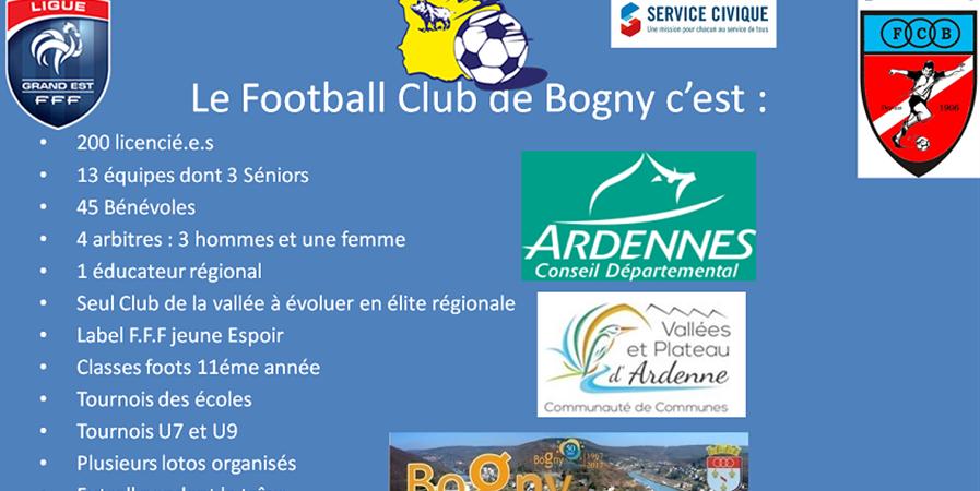 Règlement cotisations 20/21 Football Club de Bogny - FOOTBALL CLUB DE BOGNY SUR MEUSE