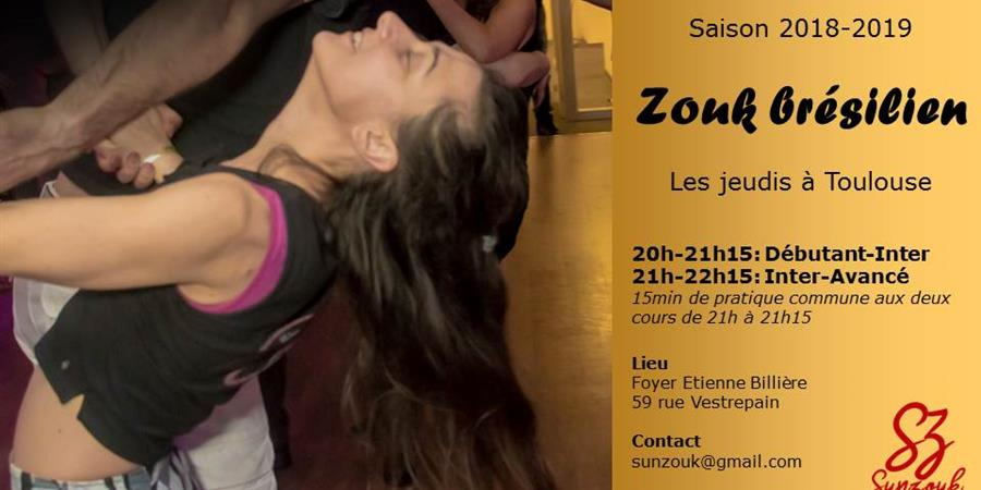 Cours de Zouk brésilien saison 2018-2019 - PP2M