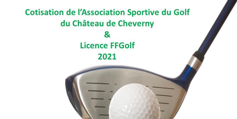 Cotisation 2021 AS Golf Cheverny et licence FFGolf - ASSOCIATION SPORTIVE DU GOLF DU CHÂTEAU DE CHEVERNY