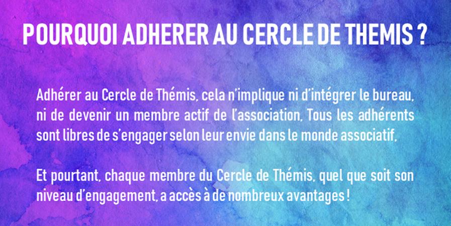 Formulaire d'adhésion au Cercle de Thémis - Le Cercle de Thémis