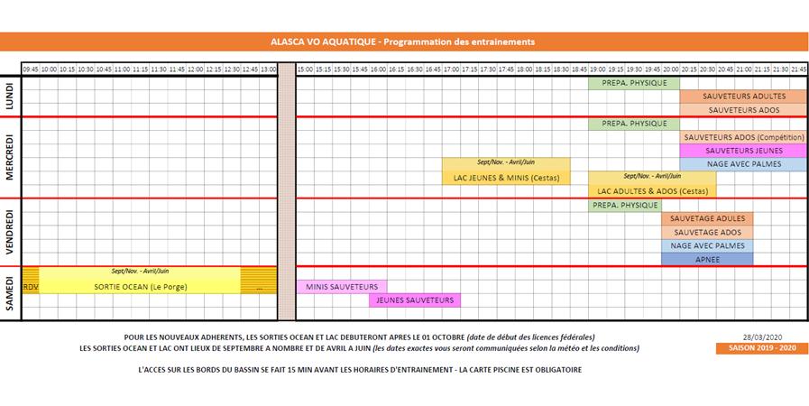 ADHÉSION SPORTIVE 2020-21 - ALASCA VO AQUATIQUE
