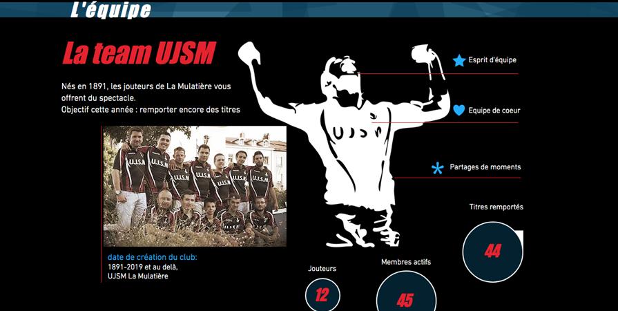 Adhésion annuelle Sportive - UJSM JOUTES