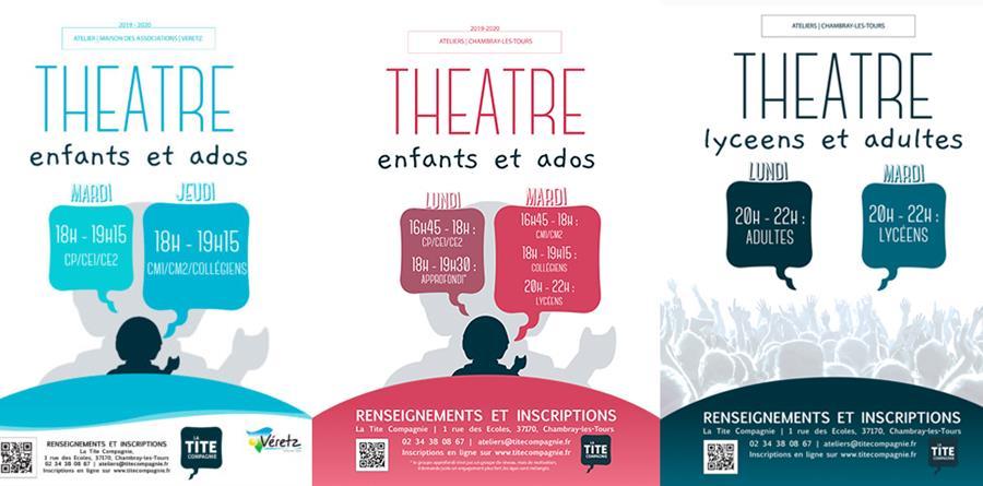 Inscriptions aux ateliers théâtre 2019-2020 - La Tite Compagnie