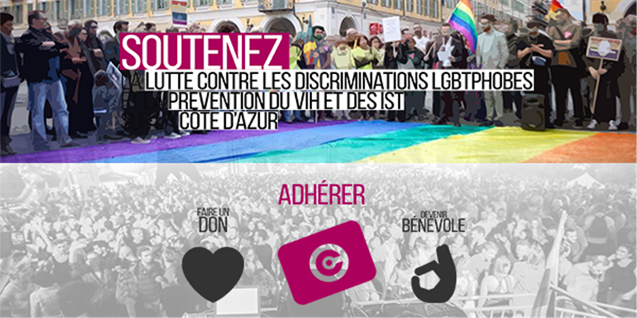 Adhésion et soutien aux actions du Centre LGBT Côte d'Azur - Centre LGBT Côte d'Azur