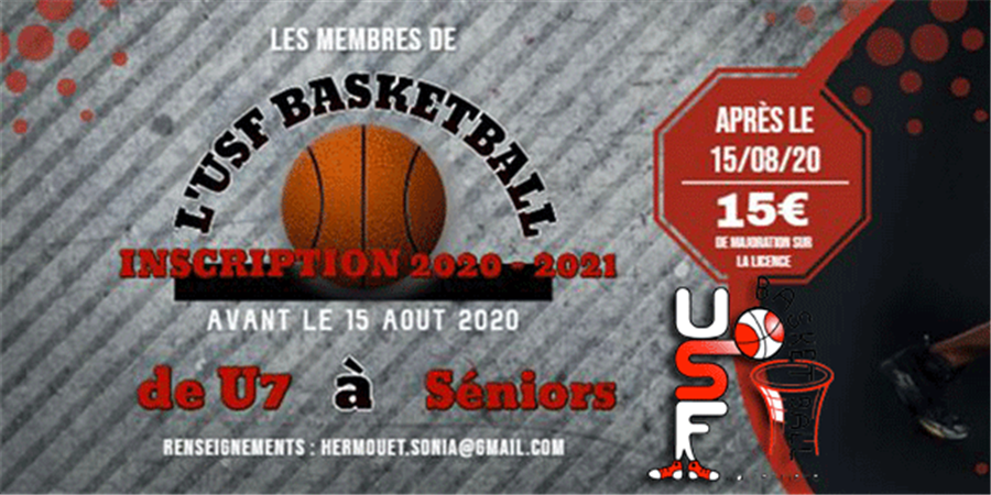 Adhésion Licence USFBasket-Ball LA FERRIERE - USF BASKETBALL LA FERRIERE