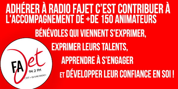 Adhésion FAJET - Radio FAJET