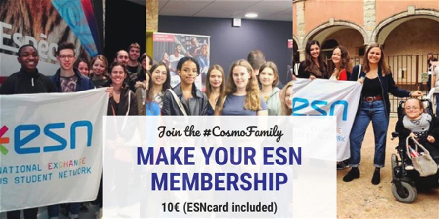 Adhésion/Membership ESN CosmoLyon - ESN Cosmo Lyon