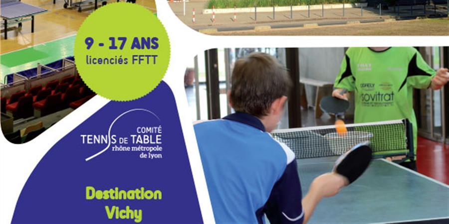 Stage à Vichy, semaine 2, du 11 au 17 juillet 2020 - Comité du Rhône - Métropole de Lyon de Tennis de Table