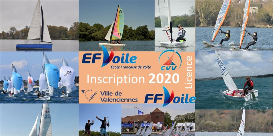 INSCRIPTION AU CLUB - CERCLE DE VOILE DE VALENCIENNES