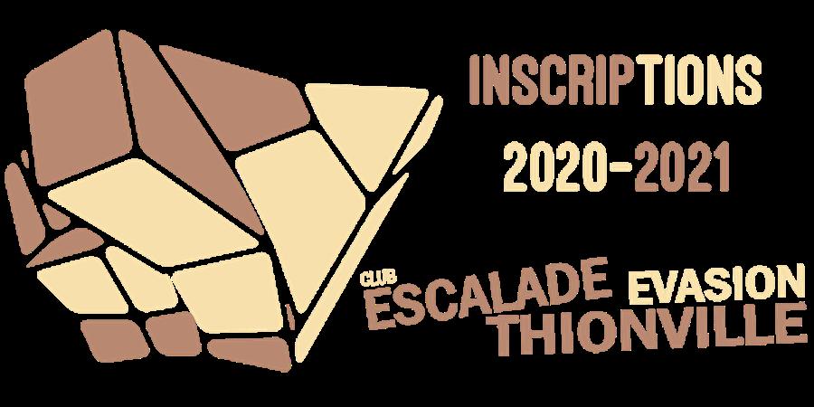 Adhésion Cotisations  2020/2021 - 2 - Club Escalade Evasion Thionville