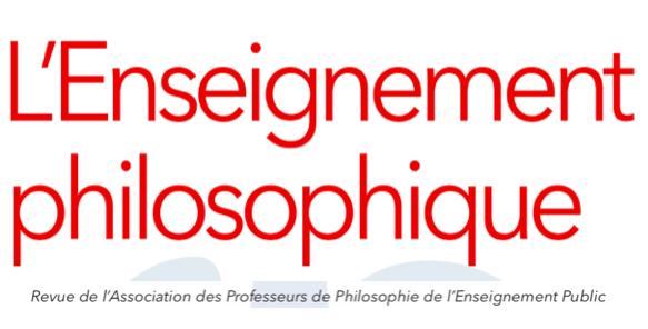 Abonnement - Association des professeurs de philosophie de l'enseignement public