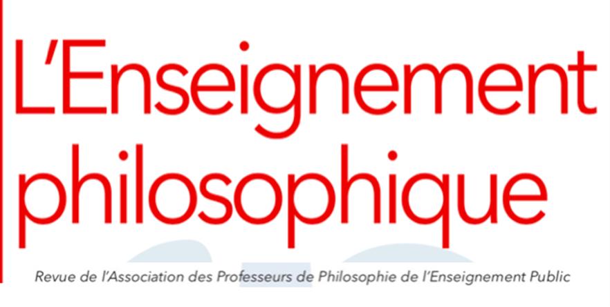 Abonnement à l'Enseignement philosophique - Association des professeurs de philosophie de l'enseignement public