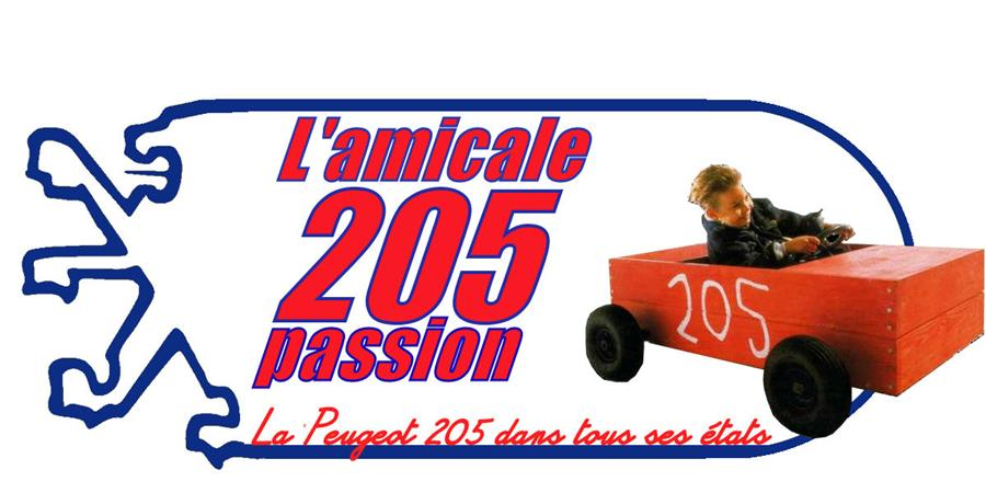 cache plaque - amicale 205 passion