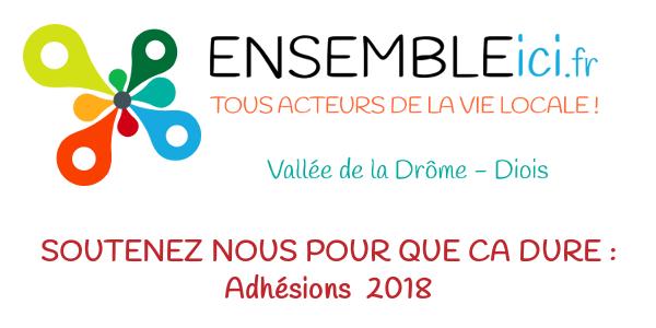 Adhésion *2018* Ensemble Ici - Vallée de la Drôme / Diois - Ensemble Ici - Vallée de la Drôme / Diois
