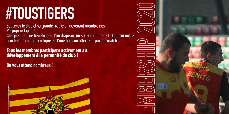 Membership Perpignan Tigers 2020 - Perpignan Tigers