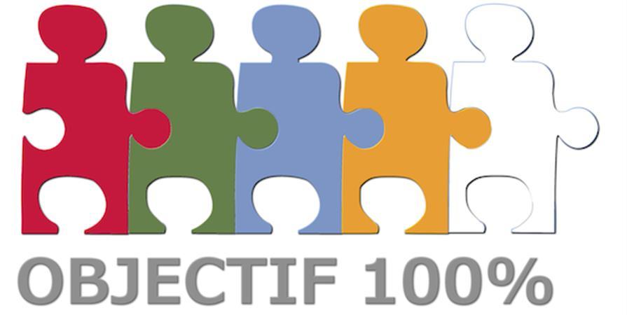 Soutenez le projet d'Objectif 100% en adhérant - Année scolaire 2018/2019 - Objectif 100%