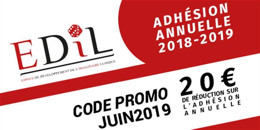 Adhésion annuelle EDIL - Septembre 2018 à Septembre 2019 - Espace de Développement de l'Imaginaire Ludique