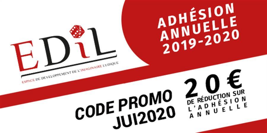 Adhésion annuelle EDIL - Septembre 2019 à Septembre 2020 - Espace de Développement de l'Imaginaire Ludique