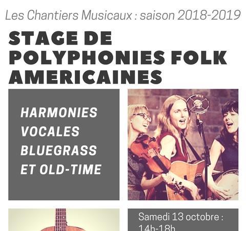 Stage de polyphonies folk américaines :  HARMONIES VOCALES BLUEGRASS ET OLD-TIME - Les Chantiers Musicaux