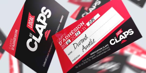 Adhérer à l'association Claps - Années 2017/2018 - Le Local du Claps