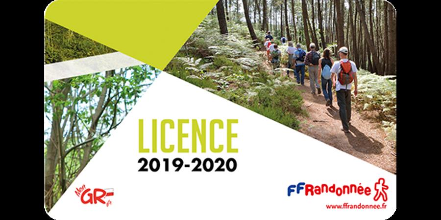 Licence Comité FFRandonnée Vendée 2020-2021 - Comité Départemental de la Randonnée Pédestre de la Vendée