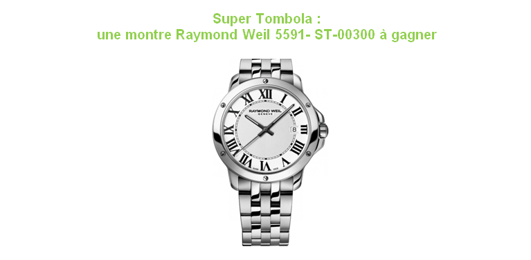 Tombola Montre Raymond Weil 5591-SP5-00300 - Corcy Endurance