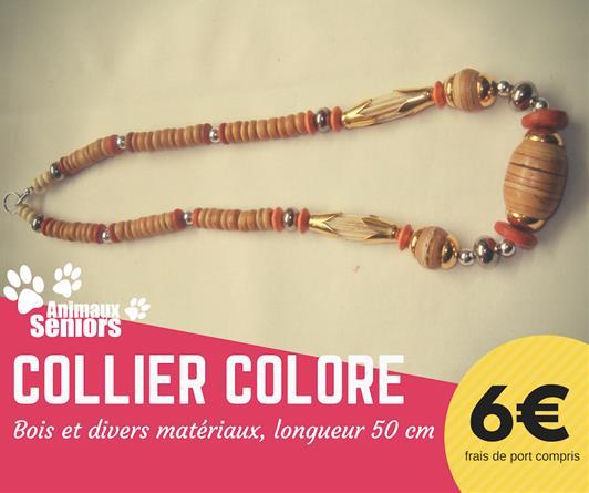 Collier coloré - 6€ - Animaux Séniors