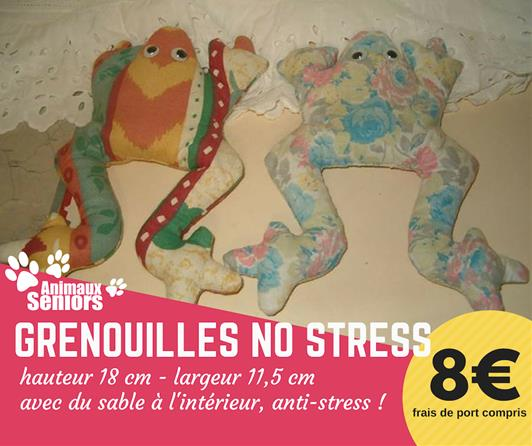 Grenouille no stress - 8€ - Animaux Séniors