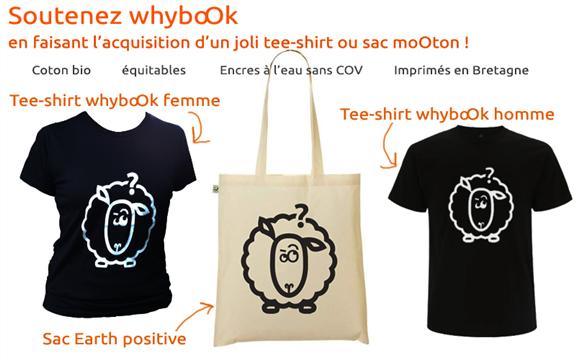 Visuels de la boutique whyboOk: Tee-shirts Homme et Femme, sac en coton bio