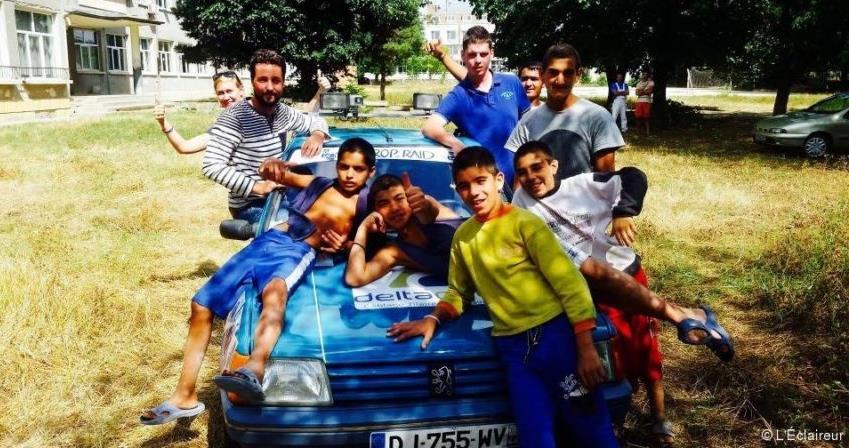 Action de solidarité Road Sailors' - Europ'Raid 2019 - Road Sailors'
