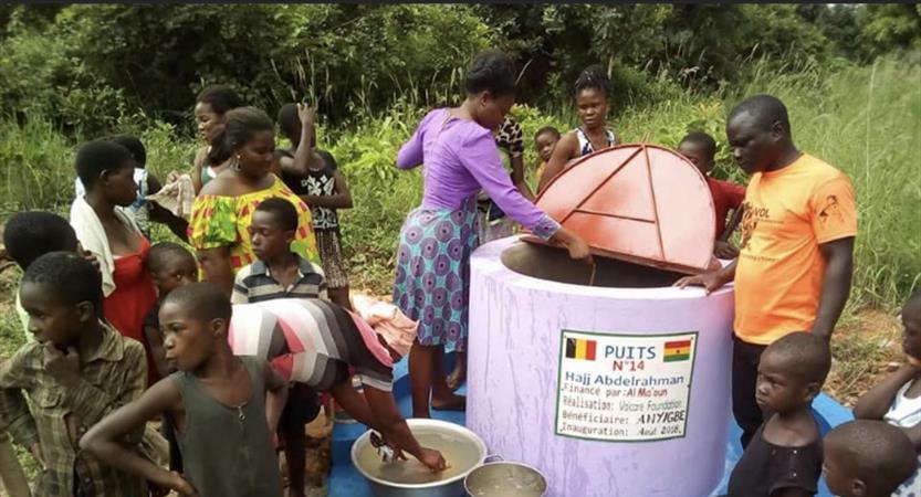 MSH: puits au GHANA pour le village de DAVEGAN - MS for humanity