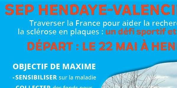Marche contre la sclérose en plaque : Hendaye - Valenciennes  - Fondation ARSEP