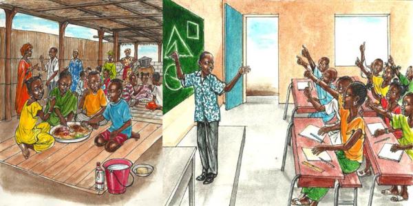 Cantine Scolaire Rurale (CSR) - KIOS (Kwassio Innovation Orientée vers la Solidarité)